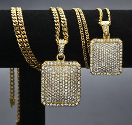 mens fashion dog tags Australia - Mens Chain Zodiac Jewelry Fashion Tag Full Rhinestone Pendant Necklaces Hip Filled Hiphop Hop Gold Men Jewelry Chain Necklace Dog Cuban Bdsd