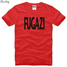 Wholesale pop punk t shirts for sale - Group buy New Design Fugazi T Shirts Men Cotton Short Sleeve HEAVY METAL PUNK POP Men s T Shirt Summer Style Male Music Rock Band Top Tees L0324