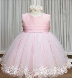 $enCountryForm.capitalKeyWord Canada - 4 colors girls lace hem flower full dress children girl tutu skirt baby party dresses for girls with big bowknot back J110701#