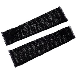 Discount bamboo one size - Wholesale- New Fashion Women's Fingerless Arm Warmer Elbow Length Lace Gloves One Size