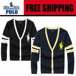 Nom De Tricot Pas Cher-Gros-Nom marque 2015 Hot Cardigan homme Pull Marque manches longues Pull Casual Knitting Sweater Polo Livraison gratuite