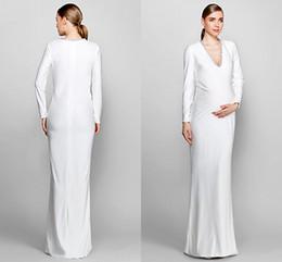 White evening maternity dresses