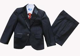 niño Tuxedo Suit Chaleco Camisas Corbata o pajarita Trajes de boda Vestido 5 piezas set 10 sets / lot