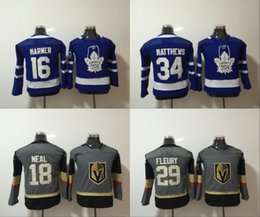 $enCountryForm.capitalKeyWord NZ - 2018 Youth Vegas Golden Knights 29 Marc-Andre Fleury 18 James Neal Maple Leafs 34 Auston Matthews Jersey 16 Mitch Marner Kids Hockey Jerseys