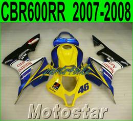 AftermArket Abs plAstic fAiring online shopping - Injection molding fairing kit for HONDA CBR600RR aftermarket CBR RR F5 yellow black blue plastic fairings set FG12