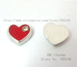 coin locket pendants Canada - FC034 Free Shipping New fashion Style charms 50pcs Heart Floating Charm Fit Living Memory Floating charms locket