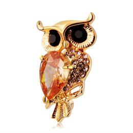 neoglory jewelry Australia - Retail Hot Brand Neoglory Jewelry High Quality Women Brooches With Unique owl Crystal Brooch Drop Shipping One Color BC-0007