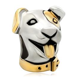 $enCountryForm.capitalKeyWord Canada - 10 pcs per lot Alloy Material Rhodium and Gold Plating Dog Puppy Bead Charm Fit Pandora Bracelet