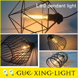 Light bulb wire cage canada best selling light bulb wire cage 2016 hot adjustable hanging wire black chandeliers lamp bird cage vintage pendant light coffee shop ceiling retro decor no bulb greentooth Image collections