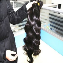 Cheap Loose Body Wave Hair Canada - 50% off unprocessed virgin human hair extensions natural wave cheap indian remy hair weaves weft 3pcs lot DHL free shipping