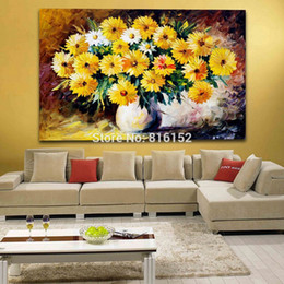 modern flower oil painting canvas Canada - Modern Wall Decor Palette Knife Oil Painting Recollection and Lilac Flowers Printed On Canvas Picture For Office Home Decoration