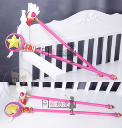 $enCountryForm.capitalKeyWord Canada - Wholesale-Anime Cardcaptor Sakura KINOMOTO SAKURA 80cm Bird Star Shape Magic Wand Stick High Quality Cosplay Props  Free Shipping
