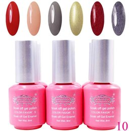 Barato Cristina Uv Gel-Venda por atacado Hot-Soak Off Gel Cor Polish UV Gel Nail Polish para Nail Art Pintura Nail, gel uv cristina polonês 6pcs / lot