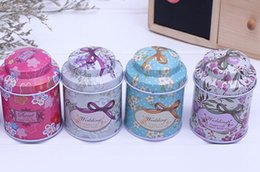 Tea caddies boxes online shopping - Hot Tea caddy receive box candy storage box wedding favor tin box cable organizer container household