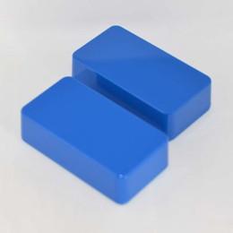 Echo Pedals Australia - 2X 1590B Style Hammond Aluminum Stomp Box Effects Pedal Enclosure Blue pedal