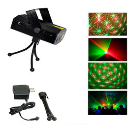 Green Tripod NZ - Multicolor Led Mini Laser Stage Lighting 150MW LED Laser DJ Party Stage Light Black Disco Dance Floor Lights With Tripod lights