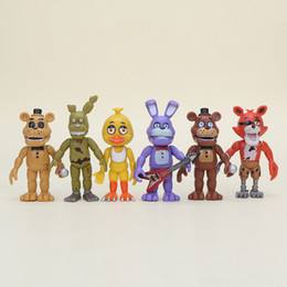 Discount easter plush toys wholesale - 6pcs  Set Five Nights At Freddy 'S Action Figure Toys Fnaf 10cm Foxy Freddy Chica Freddy Sister Location Pvc Model