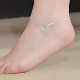 3 stile Bohemian Imitazione turchese ciondolo braccialetto caviglia estate piede sandali braccialetto tacchi alti gioielli piede H037