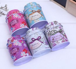 Tea caddies online shopping - New Tea caddy receive box candy storage box wedding favor tin box cable organizer container household