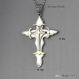 Stainless Steel Religious Cross Canada - fc European and American religious jewelry titanium steel cross pendant stainless steel jewelry wholesale a generation of fat PN-098 WNS