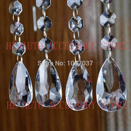 Acrylic Crystal Centerpieces Canada - 12 strands Acrylic Crystal Bead Hanging Strand For Wedding Manzanita Centerpiece Trees free shipping wedding centerpieces