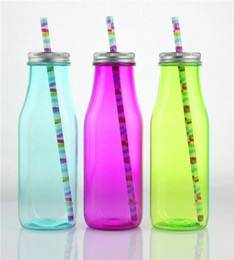 water bottles children Canada - SINGLE WALL AS PLASTIC CHILDREN KIDS MILK BOTTLE WATER BOTTLE