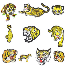 $enCountryForm.capitalKeyWord Canada - 10 Types of Tiger Series Patches for Clothing Iron on Transfer Applique Patches for Jacket Bags DIY Sew on Embroidery Stickers