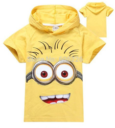 Childrens Animal Shirts Canada - despicable me 2018 new Children boys girls clothing childrens clothes hoodies  100% cotton short-sleeve kids cartoon T shirt.