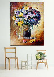 modern flower oil painting canvas Canada - Attractive Aroma of Flowers Modern Palette Knife Oil Painting Printed On Canvas Wall Art Picture For Office Home Art Decor