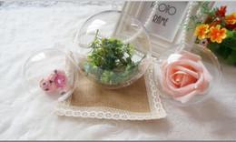 $enCountryForm.capitalKeyWord NZ - 100Pcs Per lot 6cm Dia Clear Plastic Christmas Ball Candy Box Xmas Hanging Ball For Baby Shower Wedding Favor Supplies