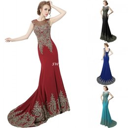 China Cheap Long Prom Dresses 2016 Mermaid Sheer Jewel Dark Red Chiffon Lace Corset Actual Images Wedding Party Evening Dresses Gowns for Pageant supplier chiffon gowns for plus size suppliers