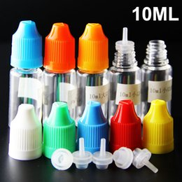 factory wholesale electronic cigarettes Canada - 10ml eliquid bottles with Childproof cap thinner dropper 10ml 30ml 50ml plastic empty e-juice bottles for electronic cigarette factory price