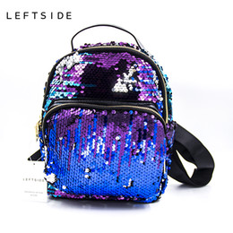 $enCountryForm.capitalKeyWord Canada - Women's Colorful Crown Canvas Backpacks Girl Lady Student School Travel Bags Women Bag Paillette BlingBling Bag 171103