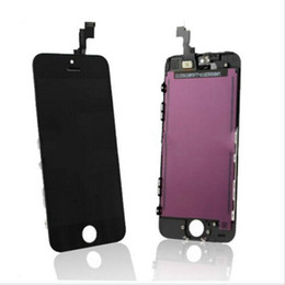 Iphone Screen Testing Australia - Black White LCD Display Touch Screen Digitizer Assembly for iPhone 5S 5C 5G Replacement Repair Parts Test before ship out