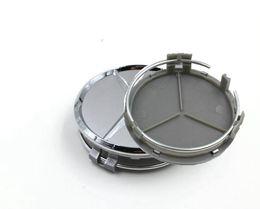 $enCountryForm.capitalKeyWord UK - car emblem Wheel Hub Cap Wheel 75mm Silver hub cover Car Logo for Three pointed star A B C CLA CLS G M R S Center Cap 4pcs