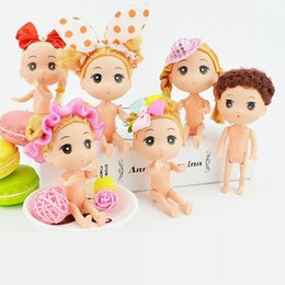 $enCountryForm.capitalKeyWord NZ - 12cm Doll 50pcs lot Body Doll Plastic Solid Cake Baking Princess Doll Naked Body For Dolls With Head Female Figure