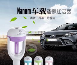 China Nanum Car Plug Air Humidifier Purifier,Vehicular essential oil ultrasonic humidifier Aroma mist car fragrance Diffuser DHL 50pcs lot suppliers