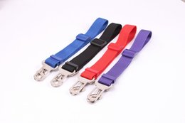 Nylon Dog Collar Wholesale UK - size 2.5*70CM 4 designs High quality Adjustable Car Vehicle Safety Seatbelt Seat Belt Harness Lead for Cat Dog Pet