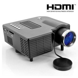 "led hdmi NZ - UC28+ 1080P HD 400LM 16770K portable pico led mini HDMI video game projector,digital pocket home projetor mini proyector for 80"" cinema"