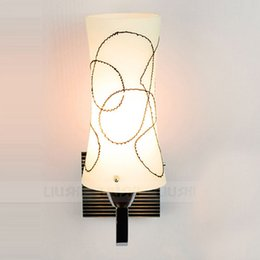 $enCountryForm.capitalKeyWord NZ - Creative Frosted Glass Corridor Bathroom Wall Lights Bedroom Bedsides Wall Sconces Hallway Balcony Stair Wall Lamps