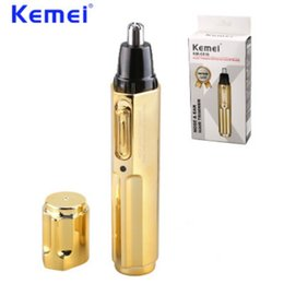 $enCountryForm.capitalKeyWord Canada - KEMEI New Electric Nose Hair Trimmer Professional Rechargeable Stainless Steel Nose Hair Cut Machine cortapelos nariz BT-162
