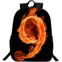 $enCountryForm.capitalKeyWord UK - 9 lucky number backpack Durable 600d nylon daypack Fire figure schoolbag Photo rucksack Sport school bag Outdoor day pack