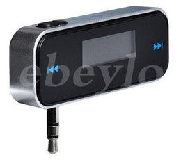 Chinese  New Electronic Car MP3 Player 3.5mm In-car FM Transmitter For iPhone 5 5S 5C iPod Touch5 ipad 4 Mini Wireless Transmitter manufacturers