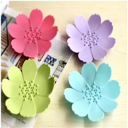 Portasapone in silicone 3D Mini portasapone a forma di fiore antiscivolo Articoli da bagno per la casa Multi Color 2 3zb Ckk