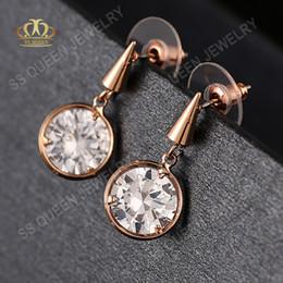 $enCountryForm.capitalKeyWord Canada - Simple and stylish 18k real gold plated bezel setting CZ diamond earring