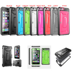 Discount plastic clip for phone case - Cell Phone Cases For iPhone 5 6 6Plus Armor Defender Hybrid Heavy Duty Shockproof Cases Cover DHL Free SCA069