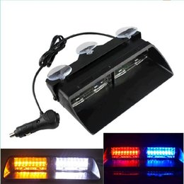 S2 Viper Federal Signal High Power 16Leds luz estroboscópica Auto Warn Light Luz LED de emergencia 12V luz delantera del coche on Sale