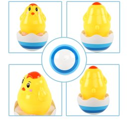 plastic chicks Australia - Beiens Brand Toys Baby Toys Brinquedos para Bebe Matlyoshka Tumbler Doll Boneca Baby Rattles Gifts Cute Chicks With Music