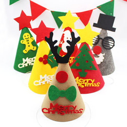Adults Christmas Hats Canada - Hot Santa Claus Hats Beanie Christmas Hats Party Decoration Non-woven Fabrics Caps for Adults Children Winter Hats Birthday Caps