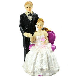 "FEIS Fashion""Groom Standing Left Bride Sitting Right"" Cake Topper Cake Decoration Wedding Decoration Wedding Accessories Poly Resin Material from wholesale bulbs for sale suppliers"
